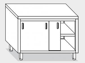 13200.12 Tavolo armadio g40 cm 120x60x85h piano liscio - porte scorrevoli