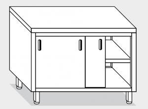 13200.19 Tavolo armadio g40 cm 190x60x85h piano liscio - porte scorrevoli