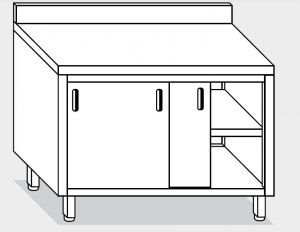 13201.20 Tavolo armadio g40 cm 200x60x85h alzatina posteriore - porte scorrevoli