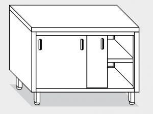 13250.10 Tavolo armadio g40 cm 100x80x85h piano liscio - porte scorrevoli