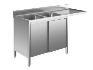 EU01911-16 lavatoio armadio per lavast. ECO cm 160x60x85h  2v e sg dx - porte scorrevoli