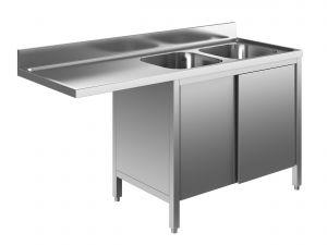 EU01962-16 lavatoio armadio per lavast. ECO cm 160x70x85h  2v e sg sx - porte scorrevoli
