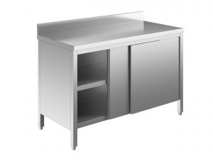 EU03201-16 tavolo armadio ECO cm 160x60x85h  piano alzatina - porte scorrevoli