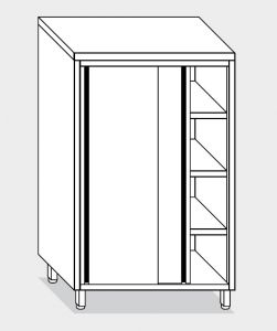 14305.14 Armadio verticale g40 cm 140x70x200h porte scorrevoli - 3 ripiani interni regolabili