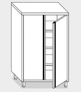 14307.08 Armadio verticale g40 cm 80x70x180h porte a battente - 3 ripiani interni regolabili