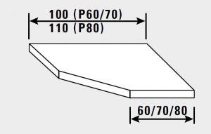 14880.10 Piano inox g40 angolo s/alzatina cm 100x70x4h