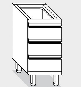 15010.05 Componibile cassettiera c3 g40 cm 50x60x81h