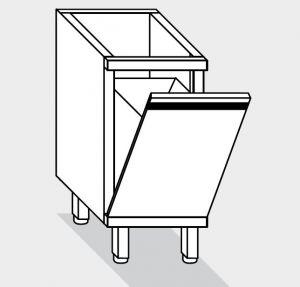 15050.06 Componibile tramoggia rovesciabile g40 cm 60x60x81h con recipiente estraibile