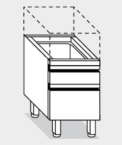 15060.04 Componibile cassettiera porta ceppo g40 cm 40x60x66h con due cassetti