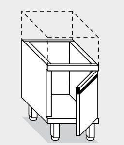 15090.04 Componibile  armadietto porta ceppo g40 cm 40x60x66h con porta battente