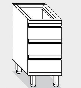 15110.04 Componibile cassettiera c3 g40 cm 40x80x81h