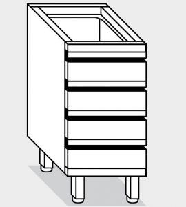 15120.05 Componibile cassettiera c4 g40 cm 50x80x81h