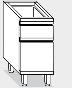 15130.04 Componibile cassettiera c3+2/3 g40 cm 40x80x81h