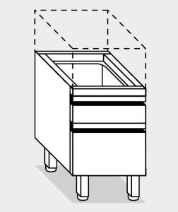 15261.04 Componibile cassettiera porta ceppo g40 cm 40x70x66h con due cassetti