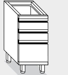 15270.04 Componibile cassettiera 2c4+1c2 g40 cm 40x70x81h