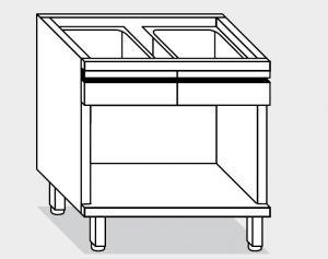 16026.12 Componibile armadietto a giorno con 2 cass g40 cm 120x60x81h