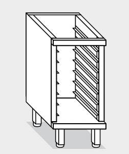 16100.04 Componibile armadietto 9 teglie gn1/1 g40 cm 40x60x81h a giorno