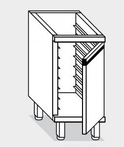 16800.04 Componibile armadietto teglie gn1/1 p/battente g40 9 teglie cm 40x70x81h