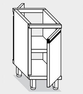 17001.05 Componibile armadietto p/battente passante g40 cm 50x80x81h ripiano intermedio