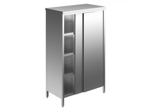 EU04205-10 armadio verticale ECO cm 100x60x200h porte scorrevoli - 3 ripiani regolabili