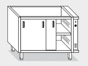 18500.18 Componibile armadio caldo con porte g40 cm 180x60x81h doppia unita' riscaldante