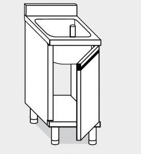 21600.08 Lavatoio armadio agi cm 80x60x85h 1 vasca - porte battenti