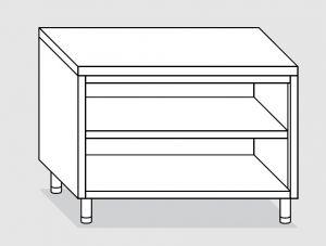 23100.12 Tavolo armadio a giorno agi cm 120x70x85h piano liscio - ripiano intermedio e di fondo