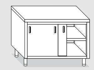23202.18 Tavolo armadio agi cm 180x60x85h piano liscio - porte scorrevoli su due lati