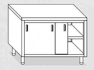 23300.16 Tavolo armadio agi cm 160x70x85h piano liscio - porte scorrevoli