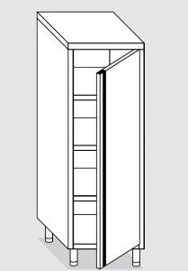 24200.05 Armadio verticale agi cm 50x60x160h porta a battente - 3 ripiani interni regolabili
