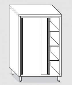 24204.10 Armadio verticale agi cm 100x60x160h porte scorrevoli - 3 ripiani interni regolabili
