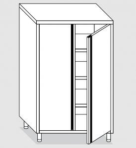 24207.10 Armadio verticale agi cm 100x60x180h porte battenti - 3 ripiani interni regolabili
