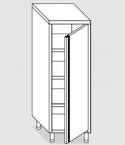 24301.05 Armadio verticale agi cm 50x70x200h porta a battente - 3 ripiani interni regolabili