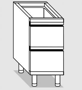 25200.04 Componibile cassettiera c2 agi cm 40x70x81h