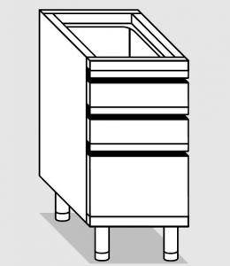 25270.04 Componibile cassettiera 2c4+1c2 agi cm 40x70x81h