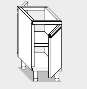 26701.04 Componibile armadietto p/battente passante agi cm 40x70x81h ripiano intermedio