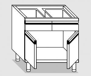27510.12 Componibile armadietto con 2 cass p/battenti agi cm 120x60x81h