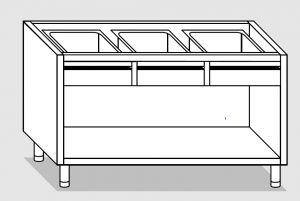 28112.18 Componibile armadio a giorno con 4 cassetti agi cm 180x80x81h
