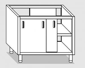 28401.13 Componibile armadio passante p/scorrevoli agi cm 130x70x81h ripiano intermedio
