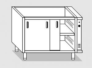 28500.18 Componibile armadio caldo con porte agi cm 180x60x81h doppia unita' riscaldante