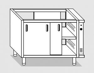 28602.13 Componibile armadio caldo passante con porte agi cm 130x80x81h