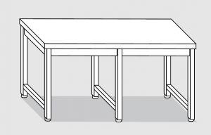 30000.28 Tavolo su 6 gambe past cm 280x80x85h piano liscio-senza ripiano inferiore