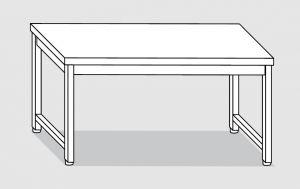 30100.16 Tavolo su 4 gambe past cm 160x90x85h piano liscio-senza ripiano inferiore