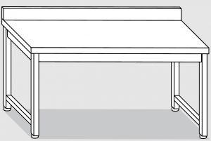 30101.14 Tavolo su 4 gambe past cm 140x90x85h alzatina posteriore-senza ripiano inferiore