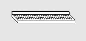 EU63901-20 ripiano a parete forato ECO cm 200x38x4h