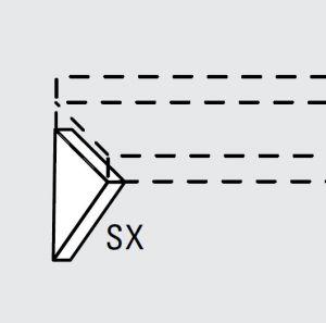 EU63990-13 mensola fissa inferiore sx da cm 28 ECO