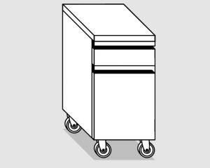 45030.04 Cassettiera ruote 1c gn1/1 h10 1c bottigliera agi cm 40x60x84h