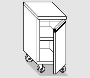 46200.04 Tavolo armadio agi 1 p/battente ruote cm 40x60x84h