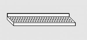 63801.12 Ripiano a parete forato cm 120x28x4h