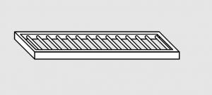 63802.06 Ripiano a parete grigliato cm 60x28x4h